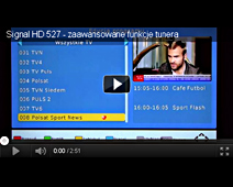 Signal HD 527 - advanced features