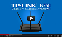 Dual-band router TP-LINK N750 TL-WDR4300
