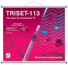 Coaxial Cable (75 ohm): TRISET-113 1.13/4.8/6.8 [100m]