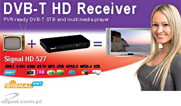 DVB-T Receiver Signal HD-527 (MPEG-2/4, PVR Ready)