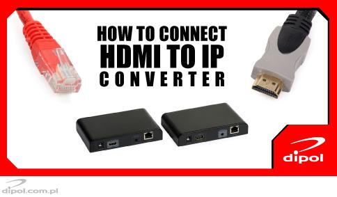 How to connect HDMI to IP converter