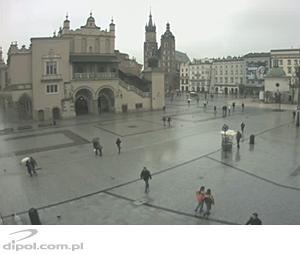 The Main Market Square in Krakow - the view from Bracka street