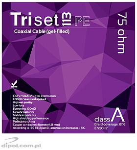 Coaxial Cable 75 ohm: TRISET-113 PE (gel-filled) [1m]