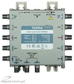 Multiswitch Single-cable dSCR: Terra SRM-521 (class A, passivo Terr. TV path)