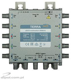 Multiswitch Single-cable Cascadable dSCR: Terra SRM-543 (class A, active terr. TV path)