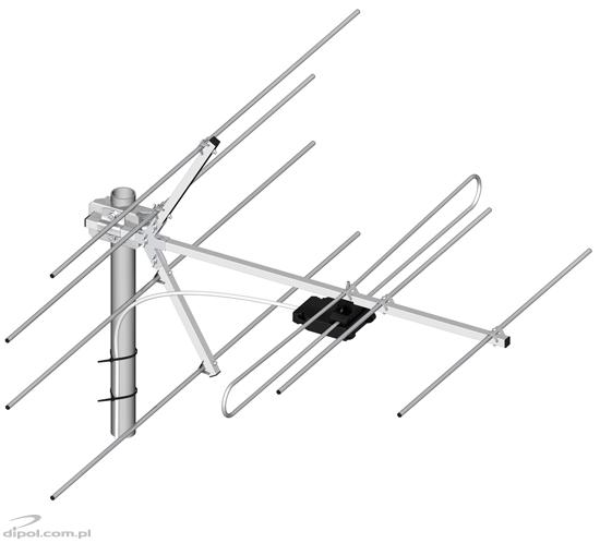 VHF TV Antenna: DIPOL 7/6-12 (7-element)