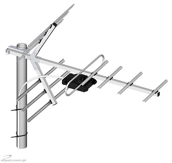 UHF TV antenna: DIPOL 11/21-69 (11-element)