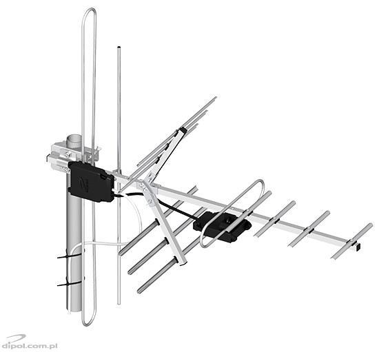 Professzionális VHF és UHF DVB-T Antenna (H/V): DIPOL 15/5-12/21-60