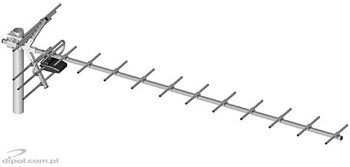 UHF TV Antenna: DIPOL 19/40-60