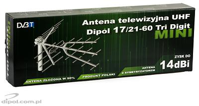 Antenă TV UIF Dipol 17/21-60 DVB-T2 Tri-Digit MINI