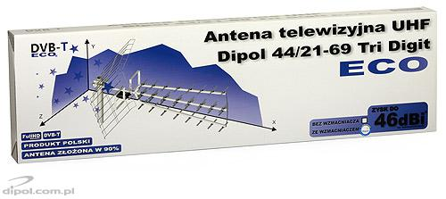 UHF TV Antenna: Dipol 17/21-69 Tri-Digit MINI