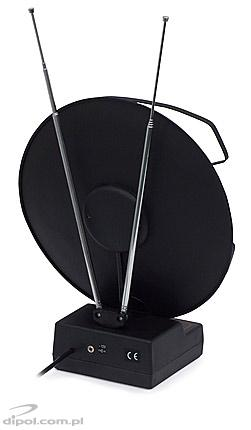 Omnidirectional broadband TV antenna: Saturn 1 (with amplifier)