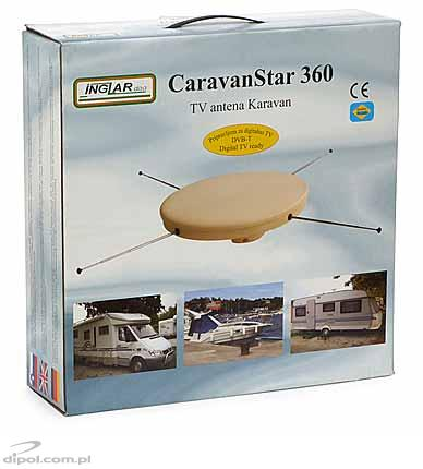 Mobile TV antenna: CaravanStar 360 (with 20/30 dB amplifier)