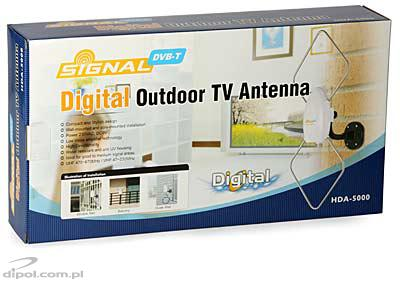 Outdoor DVB-T Antenna with Amplifier: Signal HDA-5000