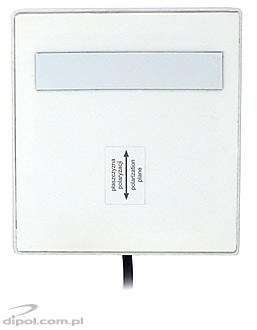 WLAN Wi-Fi Indoor Panel Antenna: ATK-P1/2.4GHz (8 dB, 2m cable &SMA/RP, white)