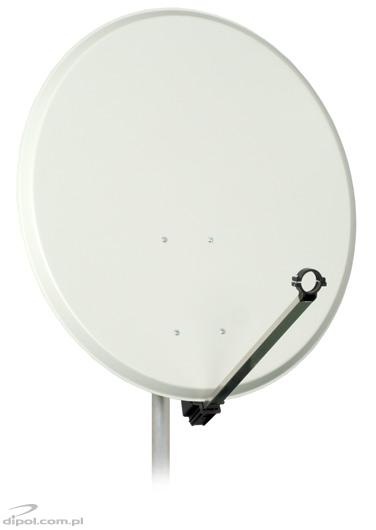 Offset Satellite Dish: 80cm, painted galvanized steel, A-E mount