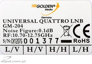 Golden Media konverter QUATRO LNB 0,1 dB.