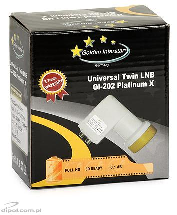 LNB twin Golden Interstar 0.2 dB