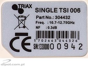Single Universal LNB: TRIAX TSI 006