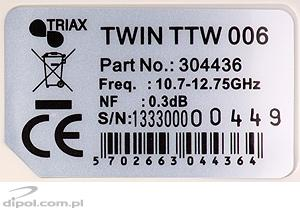 LNB twin TRIAX TTW 006