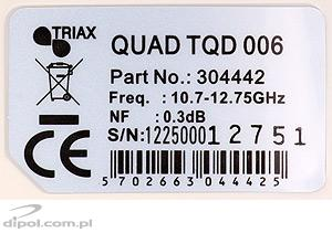 LNB quad TRIAX TQD 006