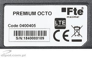 Fte eXcellento OCTO LNB (0.1dB, fekete)