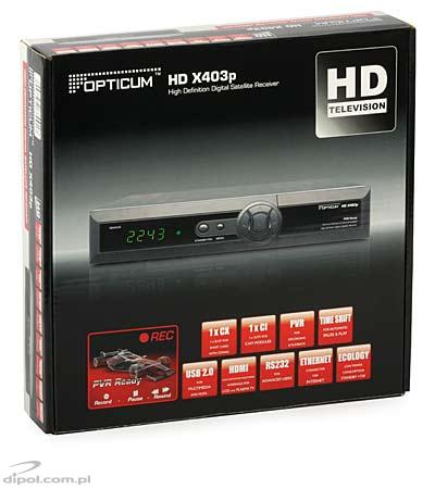 Tuner DVB-S/S2 Opticum HD X403p