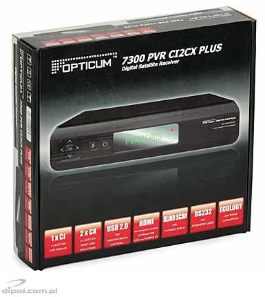 Tuner DVB-S OPTICUM 7300 PVR CI2CX PLUS VFD