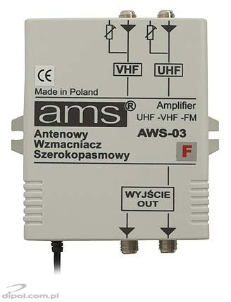 Indoor Antenna Amplifier: AWS-03F (2-in/2-out, with power supply)