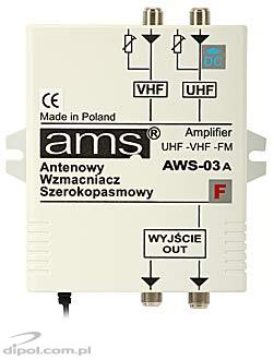 Indoor Antenna Amplifier: AWS-03AF (with preamplifier and power supply)