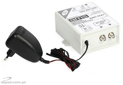 Indoor Antenna Amplifier: AWS-10A (with power supply)