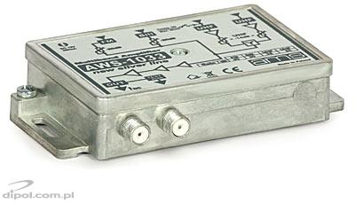 Indoor Antenna Amplifier: AWS-1030 SilverLine (FM/BIII/2*UHF/33dB)