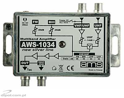 Multi-band Amplifier: AWS-1034 (FM/VHF/UHF-UHF)