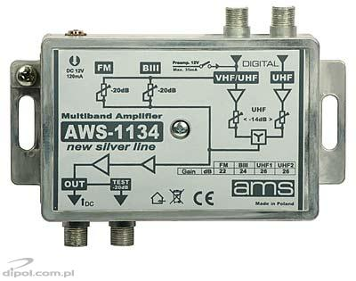Indoor Antenna Amplifier: AWS-1134 SilverLine