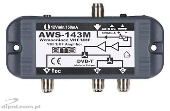 Indoor Antenna Amplifier: AWS-143ST (with power supply)