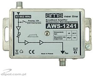 Indoor Antenna Amplifier AWS-1241 (47-862MHz 1-in, 1-out, 28/31dB)