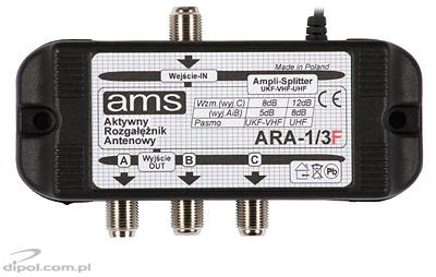 ARA 1/3 F Active Antenna Splitter
