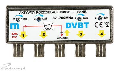 Aktív DVB-T osztó R14R
