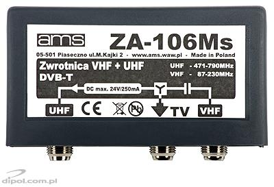 Antenna Diplexer ZA-106Ms (VHF/21-69/75, F-connectors)
