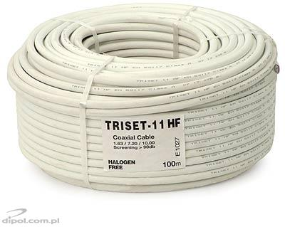 Coaxial Cable (75 ohm): Triset-11 HF 1.65/7.2/10 [100m] (class A+, halogen-free)