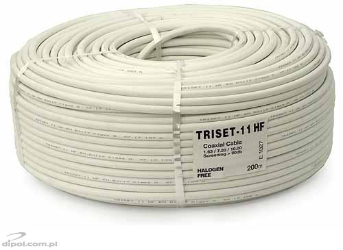 Coaxial Cable (75 ohm): Triset-11 HF 1.65/7.2/10 -/100m/