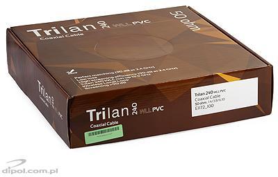 Cablu Coaxial 50 ohmi: Tri-Lan 240 PVC WLL (alb) [100m]