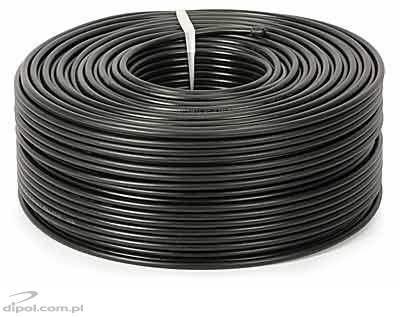 Coaxial Cable (75 ohm): RG-6 Cu PE (gel-filled) [100m]
