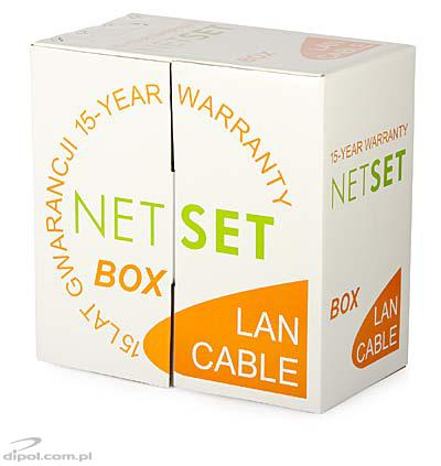 Cat 5e UTP Cable: NETSET U/UTP 5e <br />(outdoor - gel-filled, black) [1m]