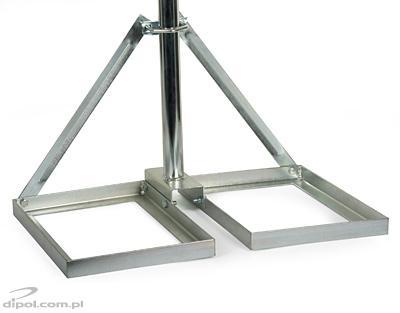 Suport de antenă vertical (75cm) cu placă de beton (50x50cm)