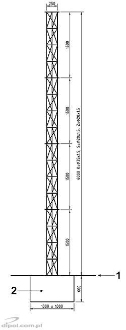 Alumínium oszlop/torony MK (1.5m, rácsos építésű)