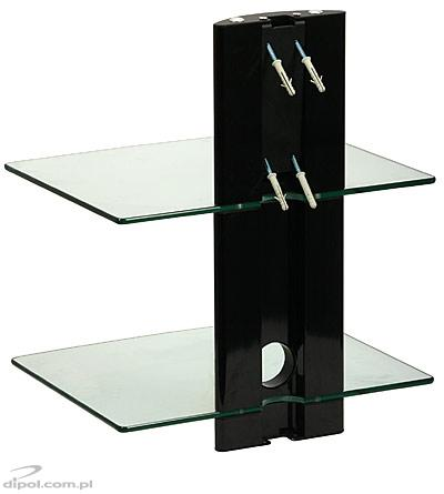 DVD Shelf DS-102CB (two-level, wall-mounted)