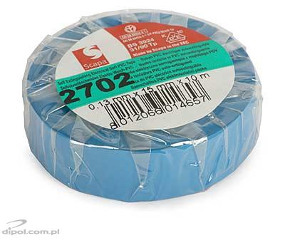 Insulation Adhesive Tape: PVC SCAPA 2702<br />(0.13*15mm/10m, blue)