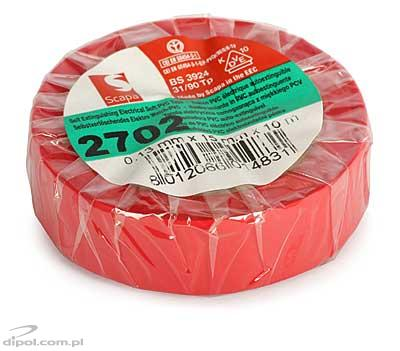 Insulation Adhesive Tape: PVC SCAPA 2702<br />(0.13*15mm/10m, red)