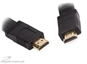 Cablu HDMI 3m aurit plat 28AWG v1.4 High Speed cu Ethernet